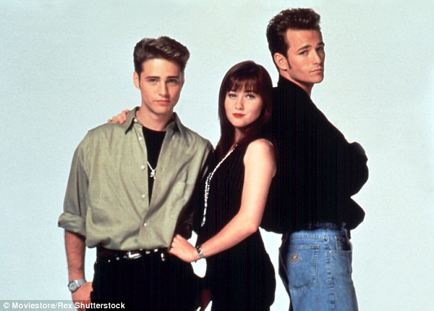 TV star: She starred in 90s classic Beverly Hills 90210, alongside Jason Priestley and Luke Perry