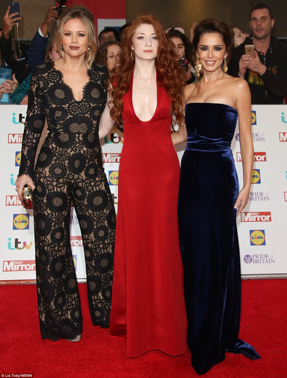 A mini Girls Aloud reunion! Cheryl Fernandez-Versini, Kimberley Walsh and Nicola Robertsmanaged to steal the limelight as they arrived at London's lavish Grosvenor House Hotel for this year's Pride of Britain Awards on Monday evening