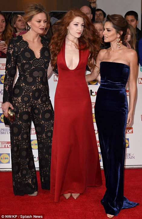 lose as ever: The Girls Aloud stars - who were not accompanied by former bandmates Nadine Coyle and Sarah Harding - appeared to be in great and content spirits as they posed up a storm together at the star-studded event