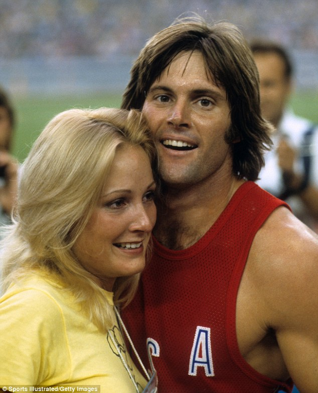 Gold! Proud wife Chrystie, who'd supported Bruce's amateur athletic career through two summer Olympics, was there to see her husband break records and win his gold medal in Montreal in 1976 - four years after he told her about his gender identity issues