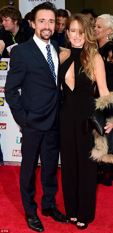 Suited and booted: Richard Hammond was accompanied by his wife Amanda Etheridge, while David Hasselhoff made a dapper appearance withgirlfriend Hayley Thomas