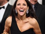 LOS ANGELES, CA - SEPTEMBER 20:  Actress Julia Louis-Dreyfus, winner of the awards for Outstanding Lead Actress in a Comedy Series for 'Veep' and Outstanding Comedy Series for 'Veep',  poses in the press room at the 67th Annual Primetime Emmy Awards at Microsoft Theater on September 20, 2015 in Los Angeles, California.  (Photo by Mark Davis/Getty Images)