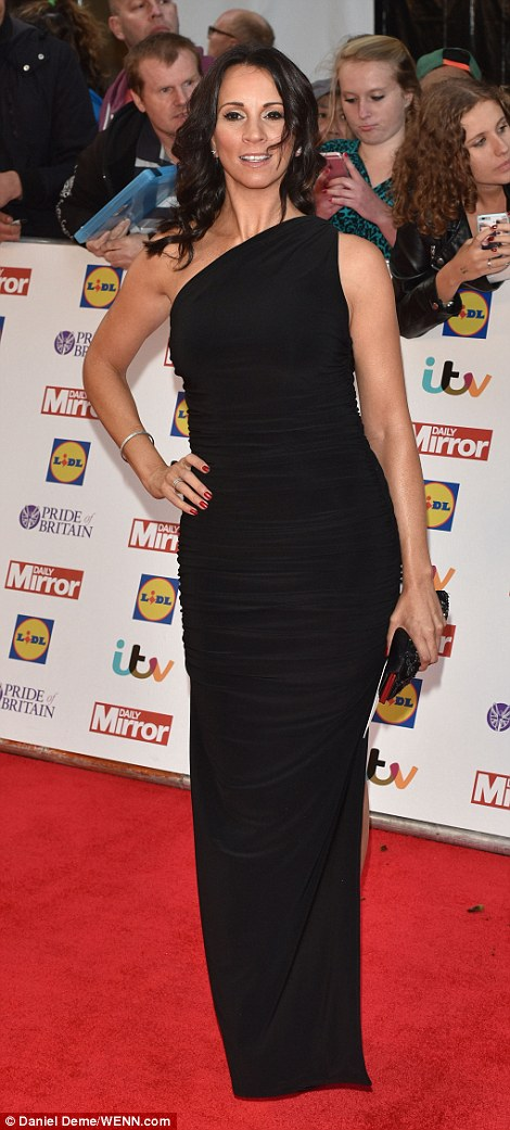 Black to basics: Loose Women stars Andrea McLean (L) and Denise Welch (R) played it safe in black dresses