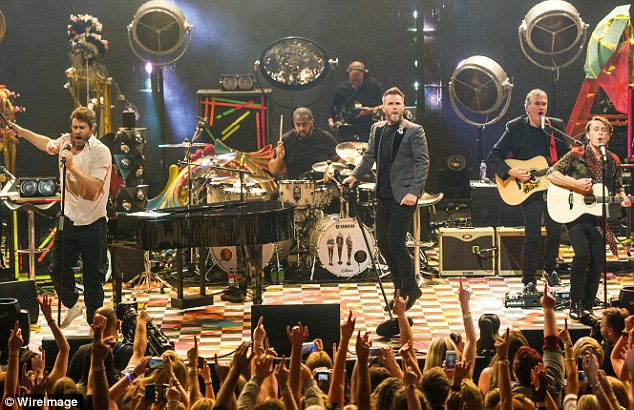 Trio:Gary Barlow, Howard Donald and Mark Owenperformed at the 2015 Apple Music Festival at London's Roundhouse last week