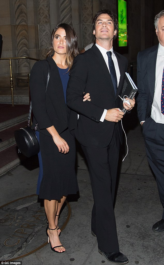 Manhattan nights: The couple had just attended the UNEP Champion of the Earth event at Cipriani