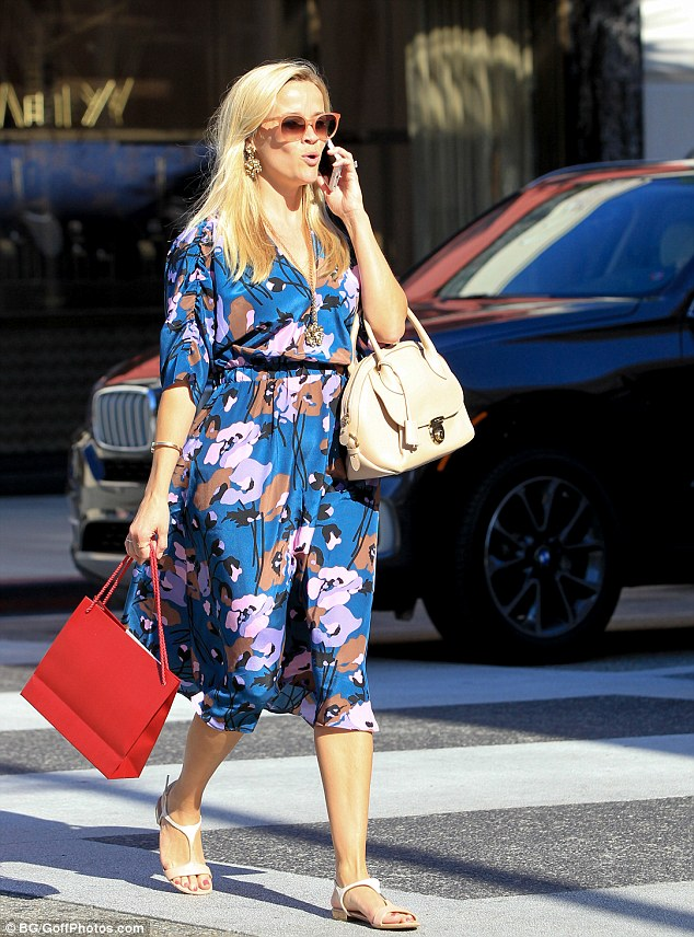 Spreading her wings! Reese, pictured in Los Angeles last week, discussed how she was thinking about introducing bridal wear to her lifestyle brand, Draper James