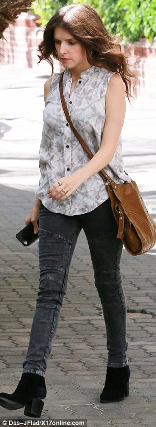 Star studded: Anna Kendrick was also seen heading over to Reese's office in Brentwood that day