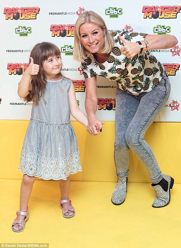 Proud mum: Fast-forward to the present day, and the performer - who's mother to five-year-old daughter Betsy from her marriage with ex-husband Lee Mead - appears to finally be at peace with the way she looks