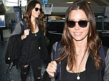 Picture Shows: Jessica Biel  September 29, 2015\n \n Actress and mother Jessica Biel arriving on a flight at LAX in Los Angeles, California. Jessica just launched a Funny or Die video series about women's health. \n \n Non Exclusive\n UK RIGHTS ONLY\n \n Pictures by : FameFlynet UK © 2015\n Tel : +44 (0)20 3551 5049\n Email : info@fameflynet.uk.com