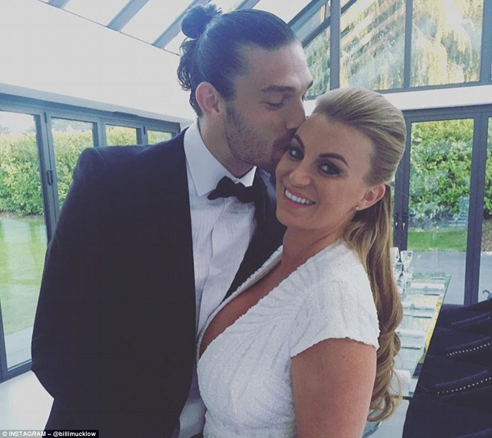 Mucklow also shared a separate image with her followers of her alongside West Ham striker Carroll