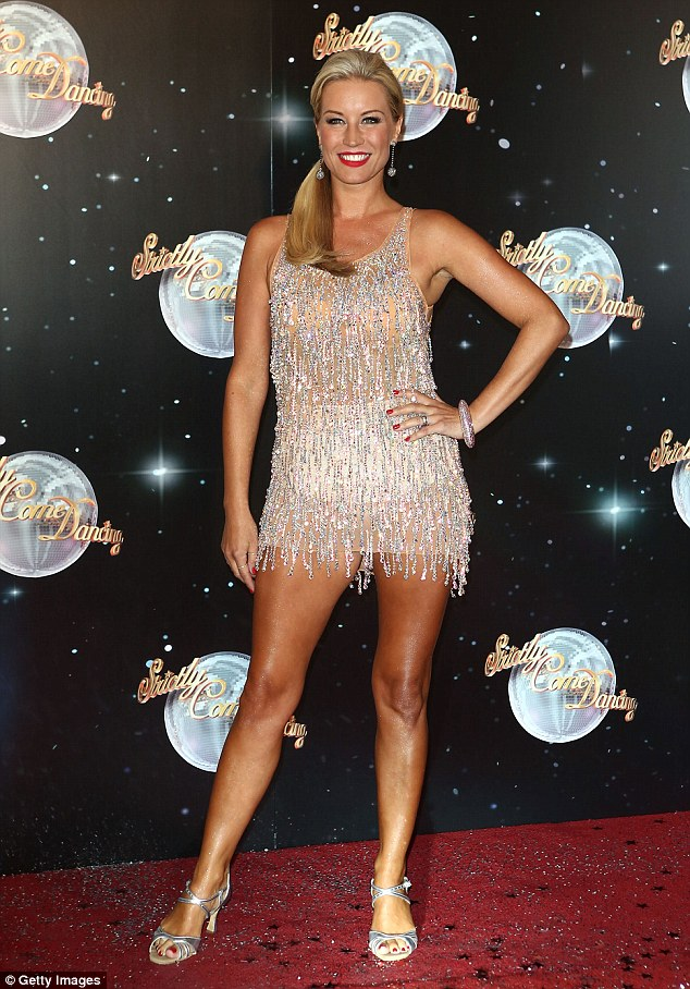 Dancing shoes: The blonde star was a runner-up in Strictly Come Dancing 2012, behind Louis Smith