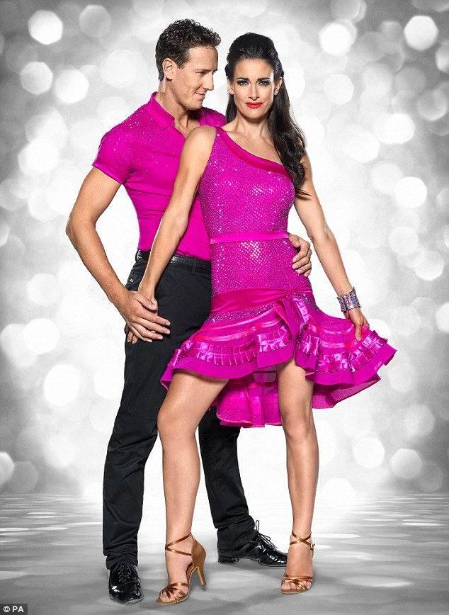 Dancing pal: When asked who she's backing to win this year's show, she said: 'I know Kirsty Gallacher so I'm going to be supporting her. I'm really excited about her doing it and we'll all go up and support her'