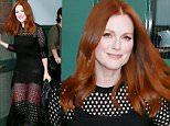 ***MANDATORY BYLINE TO READ INFPhoto.com ONLY***\nJulianne Moore seen leaving her hotel in a black dress, New York City.\n\nPictured: Julianne Moore\nRef: SPL1139762  290915  \nPicture by: T.Jackson/INFphoto.com\n\n