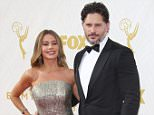 Mandatory Credit: Photo by Matt Baron/REX Shutterstock (5125627lt).. Sofia Vergara and Joe Manganiello.. 67th Primetime Emmy Awards, Arrivals, Los Angeles, America - 20 Sep 2015.. ..