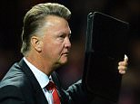 epa04958152 Manchester United manager Louis van Gaal reacts after the UEFA Champions League group B soccer match between Manchester United and VfL Wolfsburg at Old Trafford in Manchester, Britain, 30 September 2015. ManU won 2-1.  EPA/PETER POWELL