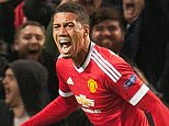 Sept 26th 2015 - Manchester, UK - MAN UTD V WOLFSBURG - Man Utd Smalling  goal 2-1 PIcture by Ian Hodgson/Daily Mail
