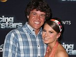 LOS ANGELES, CA - SEPTEMBER 28:  Actress/ wildlife conservationist Bindi Irwin (R) and boyfriend Chandler Powell pose at 'Dancing with the Stars' Season 21 at CBS Televison City on September 28, 2015 in Los Angeles, California.  (Photo by David Livingston/Getty Images)