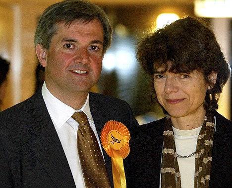 Embattled: Police have handed a file on Chis Huhne's alleged speeding offence to prosecutors, who will decide in the next month whether to press charges over claims he asked his wife, Vicky Pryce, to take his points