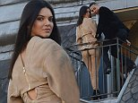 Kendall Jenner does a photoshoot on the balcony of Le Grand Hotel after the balmain fashion show\n\nPictured: KENDALL JENNER\nRef: SPL1141165  011015  \nPicture by: Pepito / Splash News\n\nSplash News and Pictures\nLos Angeles: 310-821-2666\nNew York: 212-619-2666\nLondon: 870-934-2666\nphotodesk@splashnews.com\n