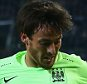 MOENCHENGLADBACH, GERMANY - SEPTEMBER 30:  David Silva of Manchester City holds off Julian Korb of Borussia Monchengladbach during the UEFA Champions League Group D match between VfL Borussia Monchengladbach and Manchester City at the Borussia Park Stadium on September 30, 2015 in Moenchengladbach, Germany.  (Photo by Alex Grimm/Bongarts/Getty Images)