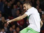 Football - Manchester United v VfL Wolfsburg - UEFA Champions League Group Stage - Group B - Old Trafford, Manchester, England - 30/9/15  Daniel Caligiuri scores the first goal for Wolfsburg  Action Images via Reuters / Lee Smith  Livepic  EDITORIAL USE ONLY.