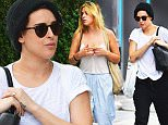 143110, EXCLUSIVE: Scout and Rumer Willis seen walking in East Village, NYC. New York, New York - Wednesday September 30, 2015. Photograph: © PacificCoastNews. Los Angeles Office: +1 310.822.0419 sales@pacificcoastnews.com FEE MUST BE AGREED PRIOR TO USAGE