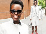 """NEW YORK, NY - OCTOBER 01:  Actress Lupita Nyong'o is seen outside the """"View"""" on October 1, 2015 in New York City.  (Photo by Raymond Hall/GC Images)"""