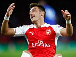LONDON, ENGLAND - SEPTEMBER 29:  Mesut Oezil of Arsenal reacts during the UEFA Champions League Group F match between Arsenal FC and Olympiacos FC at the Emirates Stadium on September 29, 2015 in London, United Kingdom.  (Photo by Shaun Botterill/Getty Images)