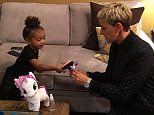 kimkardashianWho saw @TheEllenShow today? Well this is right before I went on...Northie & Ellen brushing My Little Pony's hair lol