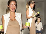 EXCLUSIVE: A heavily pregnant Kristin Cavallari looking very fashionable and a figure hugging beige dress and high heel shoes picks up Frozen Yogurt with her young son in West Hollywood, CA\n\nPictured: Kristin Cavallari\nRef: SPL1140782  300915   EXCLUSIVE\nPicture by: SPW / Twist / Splash News\n\nSplash News and Pictures\nLos Angeles: 310-821-2666\nNew York: 212-619-2666\nLondon: 870-934-2666\nphotodesk@splashnews.com\n
