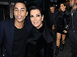 2 October 2015. Balmain After Party Dinner at La Perouse in Paris this evening. Pictured, Kris Jenner, Corey Gamble  Credit: Ben Eade/GoffPhotos.com   Ref: KGC-102