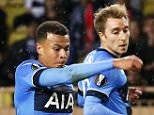 epa04959220 Tottenham's Dele Alli (C) in action against Fabio Henrique Tavares (L) of AS Monaco during the UEFA Europa League group J soccer match between AS Monaco and Tottenham Hotspur FC at Stade Louis II in Monaco, 01 October 2015.  EPA/SEBASTIEN NOGIER
