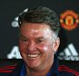 MANCHESTER, ENGLAND - OCTOBER 01:  (EXCLUSIVE COVERAGE) Manager Louis van Gaal of Manchester United speaks during a press conference at Aon Training Complex on October 1, 2015 in Manchester, England.  (Photo by Matthew Peters/Man Utd via Getty Images)