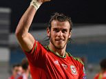 Wales striker Gareth Bale celebrates after the UEFA EURO 2016 Qualifier between Cyprus and Wales at GPS Stadium on September 3, 2015 in Nicosia, Cyprus.    NICOSIA, CYPRUS - SEPTEMBER 03:  (Photo by Stu Forster/Getty Images)
