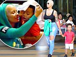 EXCLUSIVE: Amber Rose takes her son Sebastian out to lunch at the Cheescake Factory in Sherman Oaks. Amber and her son were being really cute as they finished up their lunch hiding under a table napkin and sharing little kisses. Amber and her son were seen walking around the Sherman Oaks galleria before heading home\n\nPictured: Amber Rose and Sebastian Taylor Thomaz\nRef: SPL1140813  300915   EXCLUSIVE\nPicture by: Fern / Splash News\n\nSplash News and Pictures\nLos Angeles: 310-821-2666\nNew York: 212-619-2666\nLondon: 870-934-2666\nphotodesk@splashnews.com\n