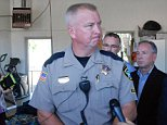 Douglas County Sheriff John Hanlin addresses the media following a deadly shooting at Umpqua Community College in Roseburg, Ore., Thursday, Oct. 1, 2015.   (AP Photo/Jeff Barnard)