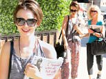 eURN: AD*183060559  Headline: Lilly Collins shows off her reading material while out with her Mom in Beverly Hills,CA. Caption: Lilly Collins shows off her reading material while out with her Mom in Beverly Hills,CA.  Pictured: Lilly Collins Ref: SPL1136513  300915   Picture by: Marcus / Splash News  Splash News and Pictures Los Angeles: 310-821-2666 New York: 212-619-2666 London: 870-934-2666 photodesk@splashnews.com  Photographer: Marcus / Splash News Loaded on 30/09/2015 at 23:23 Copyright: Splash News Provider: Marcus / Splash News  Properties: RGB JPEG Image (24413K 2175K 11.2:1) 2400w x 3472h at 300 x 300 dpi  Routing: DM News : GroupFeeds (Comms), GeneralFeed (Miscellaneous) DM Showbiz : SHOWBIZ (Miscellaneous) DM Online : Online Previews (Miscellaneous), CMS Out (Miscellaneous)  Parking: