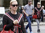 LONDON, ENGLAND - SEPTEMBER 27:  (EXCLUSIVE COVERAGE) (MINIMUM ONLINE/WEB USAGE FEE £150 FOR SET) Denise Van Outen and boyfriend Eddie Boxshall are seen taking a stroll through North London on September 27, 2015 in London, England.  (Photo by Crowder/Legge/GC Images)