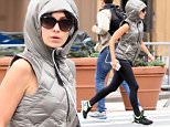 Mandatory Credit: Photo by Startraks Photo/REX Shutterstock (5207621i)\n Hilaria Baldwin\n Hilaria Baldwin out and about, New York, America - 01 Oct 2015\n Hilaria Baldwin Jogging in the West Village\n