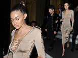 2 October 2015.\nLily Aldridge, Kendall Jenner, Lily Donaldson, Gigi Hadid, Joe Jonas and Joan Smalls are all pictured leaving Costes bar in Paris this evening. \nCredit: Ben Eade/GoffPhotos.com   Ref: KGC-102\n