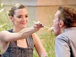 **EXCLUSIVE**          Date: September 28th 2015   Photo Credit: MOVI Inc. \nActress Jamie King feeds her man some Blue Ribbon Sushi at The Grove in Los Angeles,CA as she enjoys a rare date night with her hubby Kyle Newman at the hotspot. \n