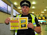 Sergeant Darren Taylor at Gatwick airport. See SWNS story SWAIRPORT; A police campaign to stop drunk fliers from heading off to stag and hen do destinations has been hailed a success ñ after police dealt with 120 incidents. Killjoy cops launched a clampdown campaign on rowdy fliers at Gatwick Airport, and since the start of summer they managed to arrest 26 people flying to various party destinations ñ including Las Vegas and Magaluf. The operation was a concerted effort to clamp down on the number of people who drink too much at the airport in Crawley, West Sussex. Officers patrolled departure lounges and bars at the airport looking for drunk and disruptive holidaymakers.