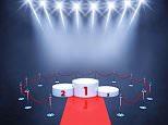EWC0HR Sport competition event podium , red carpet and spotlights , Winner's podium , Award ceremony