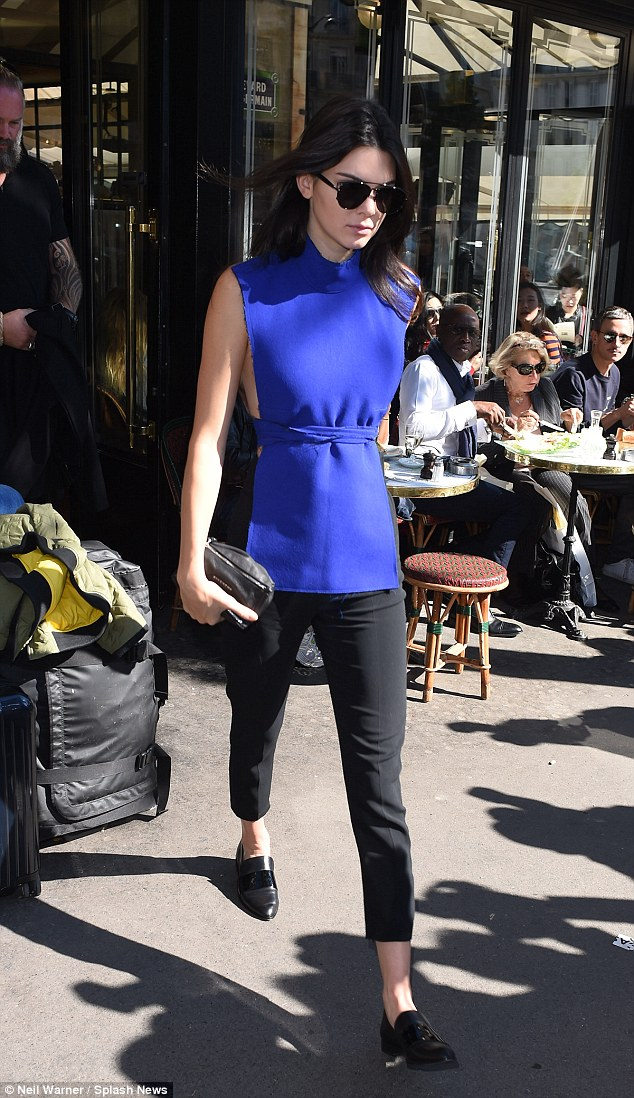 Popular: The style star is no stranger to the limelight and appeared to enjoying having all eyes on her