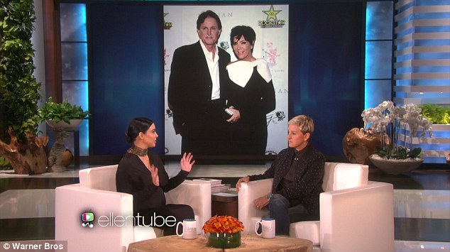 What a shame: The reality star told Ellen DeGeneres that her rapper husband Kanye West isn't a fan of the directional name