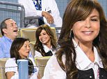 LOS ANGELES, CA - OCTOBER 02:  Paula Abdul (R) attends a baseball game between the San Diego Padres and the Los Angeles Dodgers at Dodger Stadium on October 2, 2015 in Los Angeles, California.  (Photo by Noel Vasquez/GC Images)