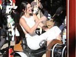 Kendall Jenner, Gigi Hadid and Joe Jonas at the carousel in Monceau park in Paris, France on october 2nd, 2015.  Pictured: Kendall Jenner Ref: SPL1142201  021015   Picture by: KCS Presse / Splash News  Splash News and Pictures Los Angeles: 310-821-2666 New York: 212-619-2666 London: 870-934-2666 photodesk@splashnews.com