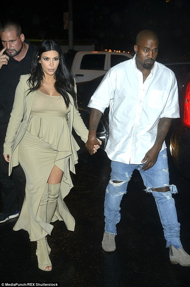 Still time: Kim said she and Kanye will decide on a name in a month's time, when the star is around eight months pregnant