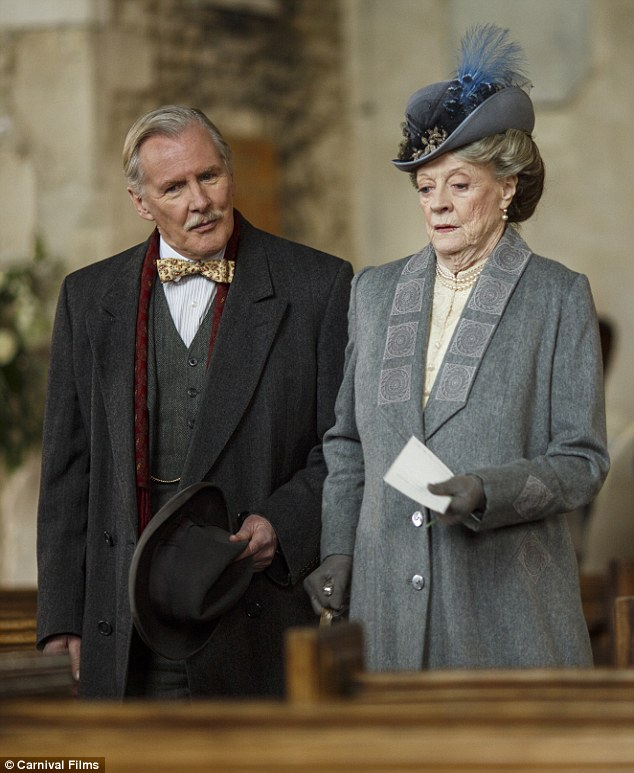 Showing their support: Violet Crawley, Dowager Countess of Grantham, and Dr Clarkson were among guests