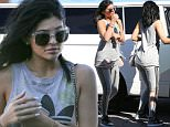 Van Nuys, CA - Reality star Kylie Jenner is spotted arriving at the studio in Van Nuys this afternoon wearing Adidas tank top and leggings.\nAKM-GSI           October 2, 2015\nTo License These Photos, Please Contact :\n \n Steve Ginsburg\n (310) 505-8447\n (323) 423-9397\n steve@akmgsi.com\n sales@akmgsi.com\n \n or\n \n Maria Buda\n (917) 242-1505\n mbuda@akmgsi.com\n ginsburgspalyinc@gmail.com